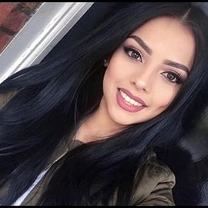 """27.5"""" Silky Straight Black Synthetic Wig"""